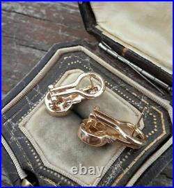 1 Ct Diamond Vintage Perfect Art Deco Engagement Earrings 14K Yellow Gold Plated