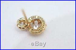 Rare! Tiffany & Co. 18K Yellow Gold Diamond Twisted Wire Stud Earrings Vintage