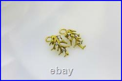 Vintage Tiffany & Co 18kt Italy Yellow Gold And Diamond Branch Clip On Earrings